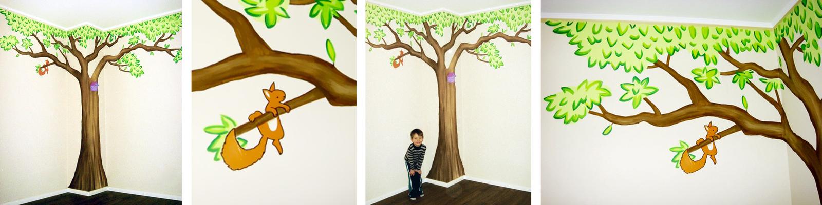 Kinderzimmer wandbemalung vorlagen  Sweetwall - Wunschmotive für Deine Wand. Wandmalerei für ...