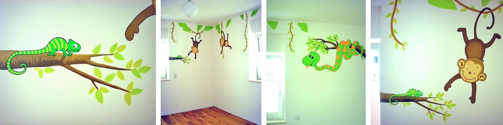 Babyzimmer wandgestaltung tiere  Sweetwall - Wunschmotive für Deine Wand. Wandmalerei für ...
