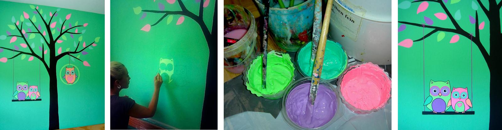 Kinderzimmer malerei vorlagen baum wand aufkleber for Vorlagen malerei