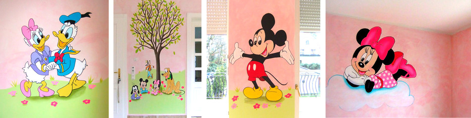 "Sweetwall Motivmalerei ""Minnie Mouse and Friends"""