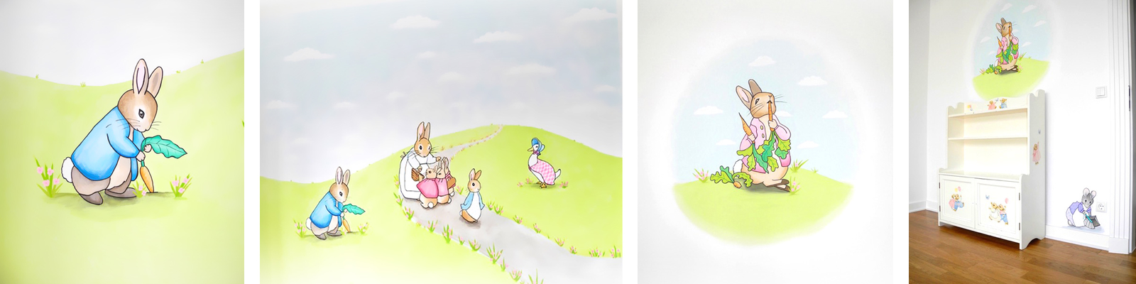 Babyzimmer Wandmalerei Mit Figuren Aus U201ePeter Rabbitu201c Von Beatrix Potter