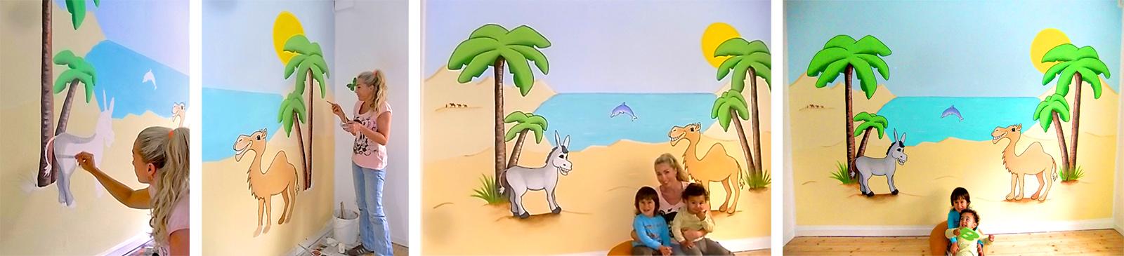 wandbemalung und wandgemlde fr kinderzimmer sweetwall wandmalerei fr das kinderzimmer die kita - Wandbemalung Kinderzimmer