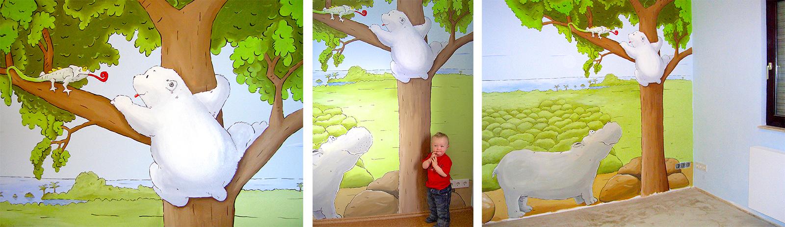 Wandmalerei Für Ein Jungenzimmer: Sweetwall