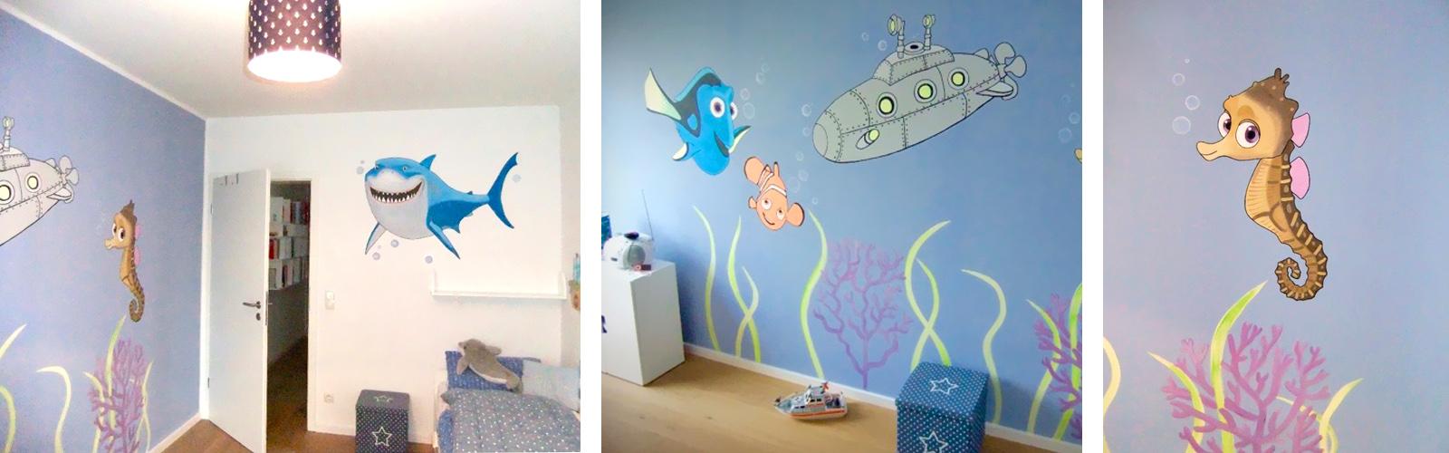 Kinderzimmer wandgestaltung giraffe  Sweetwall - Wunschmotive für Deine Wand. Wandmalerei für ...