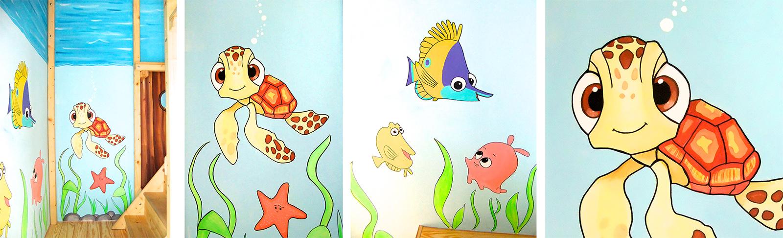 Kinderzimmer wandgestaltung dschungelbuch  Sweetwall - Wunschmotive für Deine Wand. Wandmalerei für ...
