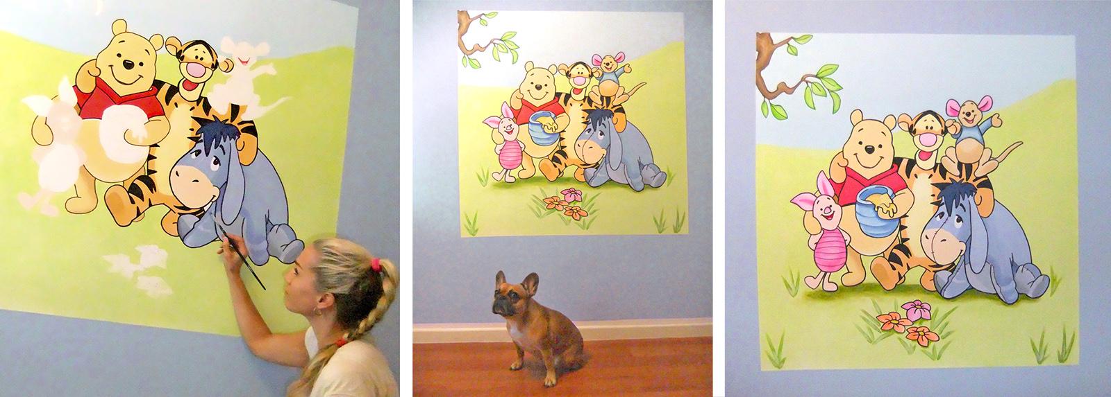 Kinderzimmer wandgestaltung dschungelbuch  Wandtattoo Babyzimmer Winnie Pooh: Roommates wandtattoo »super ...